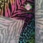 65*35 TC涤棉混纺豹纹印花格子布 床上用品沙发窗帘装饰用