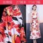 晨帆纺织 真丝棉缎面料重磅丝绵印花布料香港正光丝绸厂出品